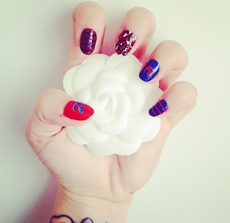 Nautical Inspired Nails nail art by Natasha Brinn