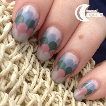 Pastel Waves nail art by Lucy @ Life is Lunula