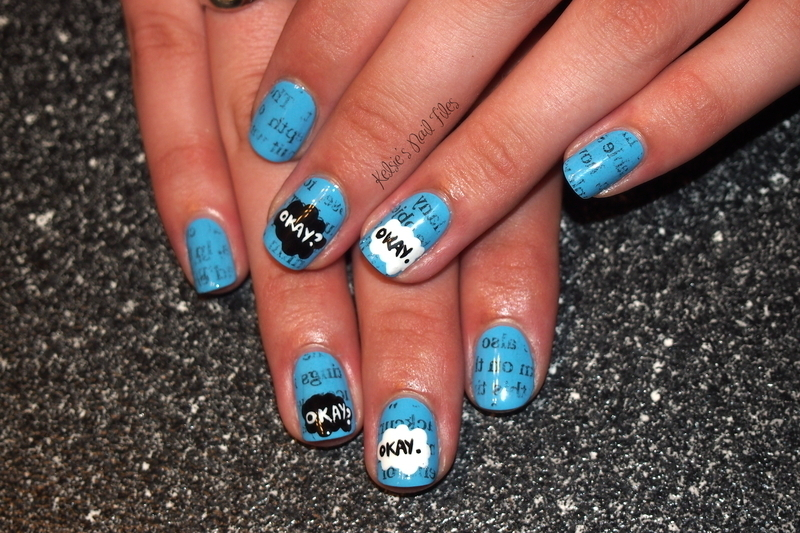 The Fault in Our Stars nail art by Kelsie