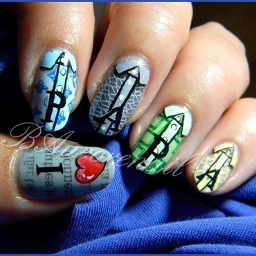 Bonne fete papa nail art by BAurorenail