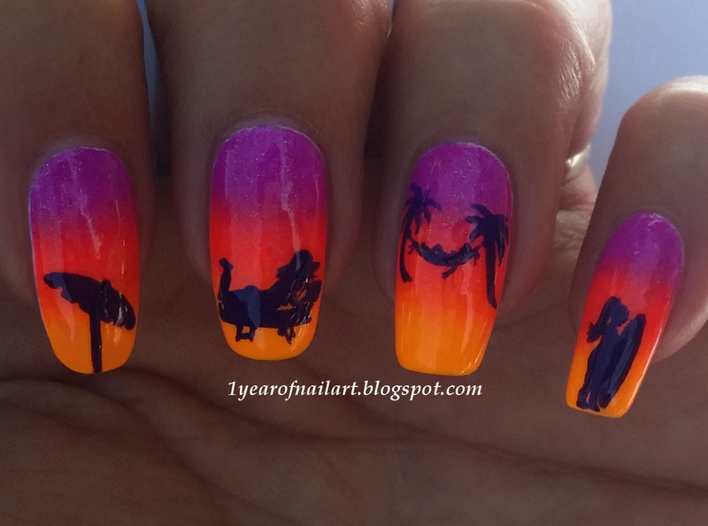 Beach nail art ft. Orly Baked nail art by Margriet Sijperda