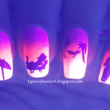 Neon beach nails ft. Orly Baked nail art by Margriet Sijperda