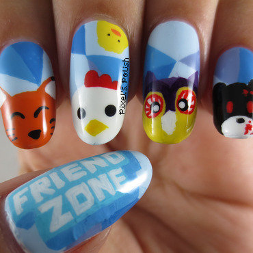 Polaris Friend Zone Live nail art by Pixel's Polish