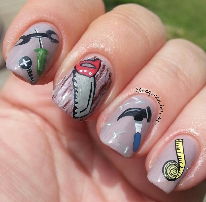 Mr. Fix It nail art by Jennifer Collins