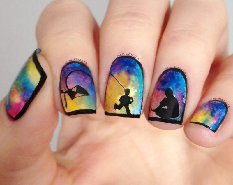 Best Memories nail art by Louise