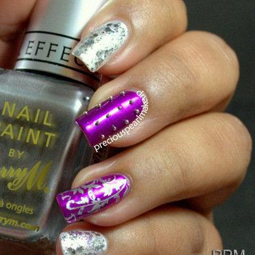 Silver purple nail art 4 001 thumb370f