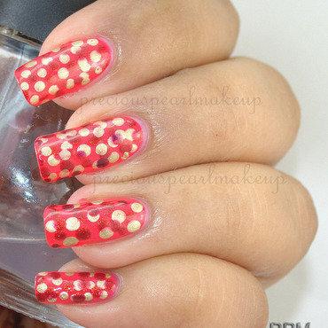 Orange Dotticure nail art by Pearl P.