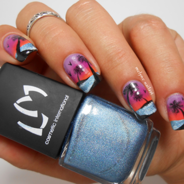 Sunset nail art nail art by melyne nailart