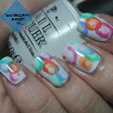Watercolor spot nail art 2 thumb370f