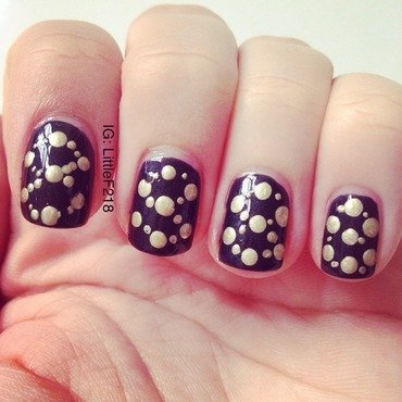 Pattern nail art by  Faye