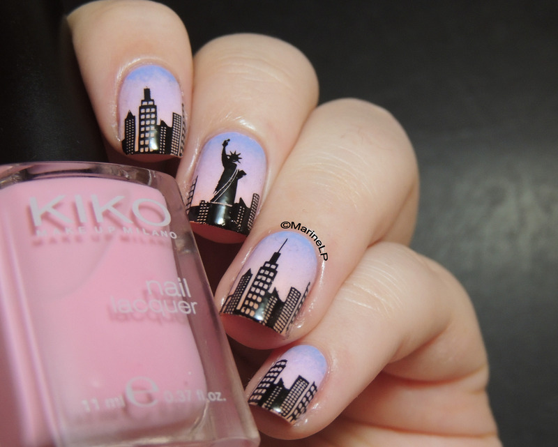 New York nails nail art by Marine Loves Polish - Nailpolis: Museum ...