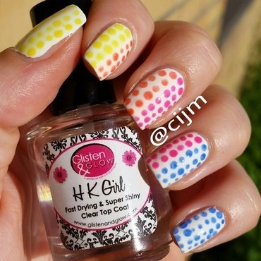 Neon dots nail art by cijm