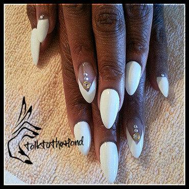 White On! nail art by TalktothehandNails