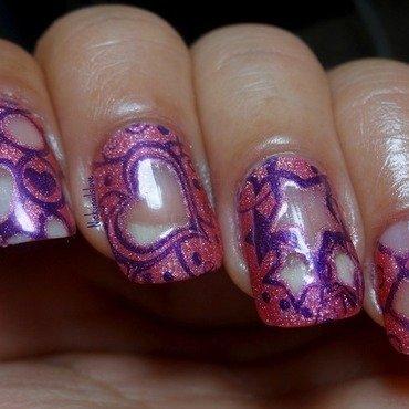 Negative space nail art by Nicky