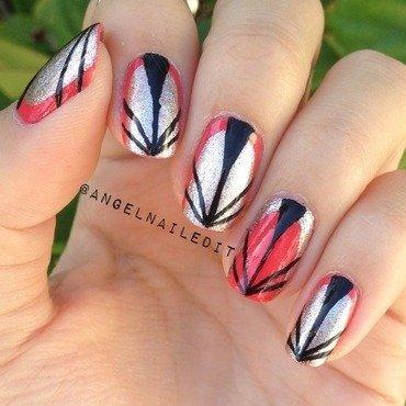 Art Deco  nail art by Angel Son