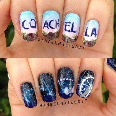 Coachella 2014 nail art by Angel Son