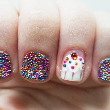 Candy and Cupcakes nail art by Jacquie