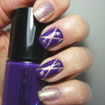 Mardis Gras Madness nail art by LacqueredLady
