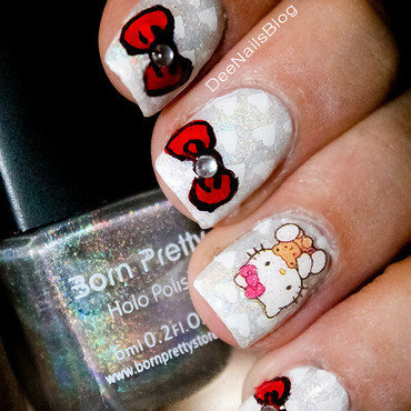 Hello kitty 40 years anniversary nail art nail art by Diana Livesay