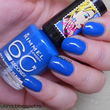 Rimmel 823 Blindfold Me Blue Swatch by Aby