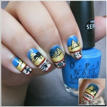 Travel to Egypt nail art by OnailArt