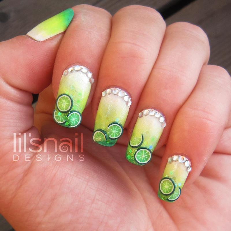 Mojito Summer Nails nail art by Lily-Jane Verezen