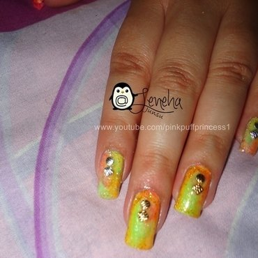Summers Easy to Go Nails nail art by Leneha Junsu