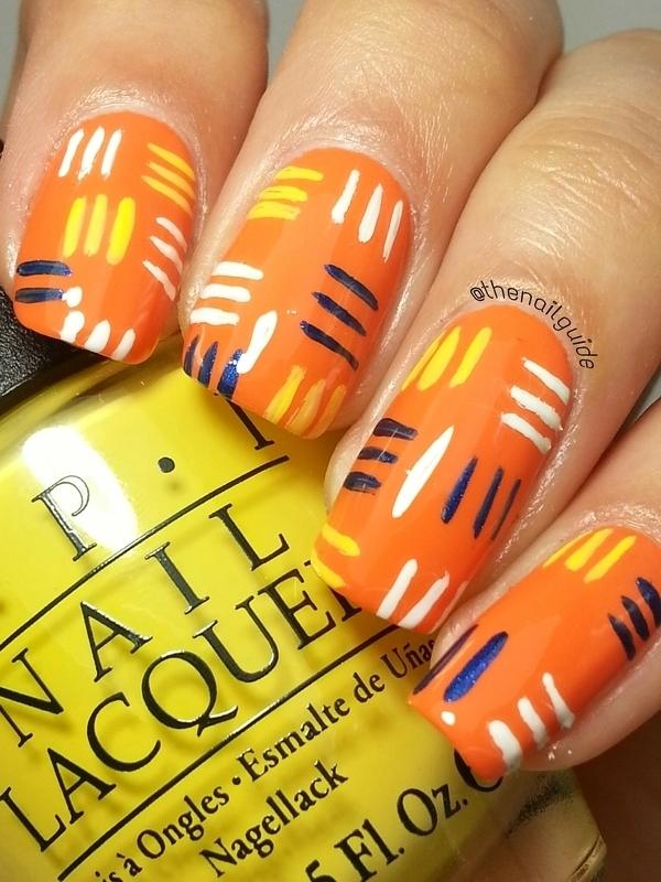 Patchwork Stripes nail art by thenailguide