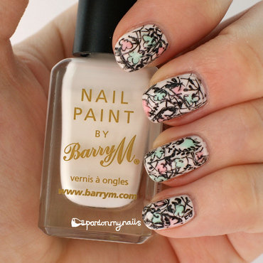 Sketchy Florals! nail art by Pardon My Nails