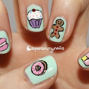 Sweet Treats! nail art by Pardon My Nails