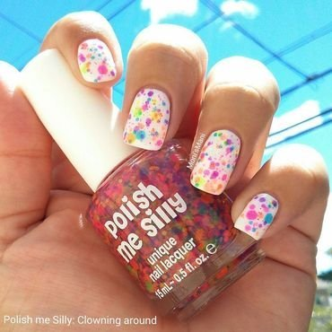 China Glaze Snow and polish me silly Clowning Around Swatch by Moni'sMani