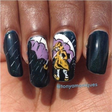 Morton Salt nail art by Tonya Simmons