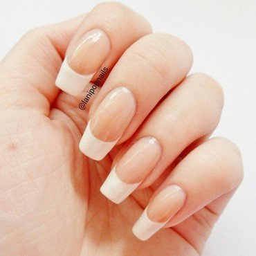 French Manicure nail art by Alanna