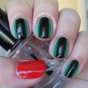 Hypnotic greens nail art thumb370f
