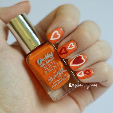 Spring Hearts nail art by Pardon My Nails