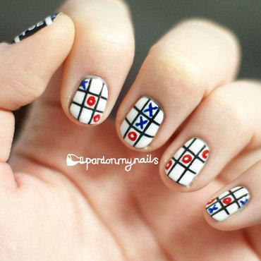 Tic Tac Toe Nail Art nail art by Pardon My Nails