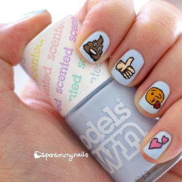 Emoji Nail Art nail art by Pardon My Nails
