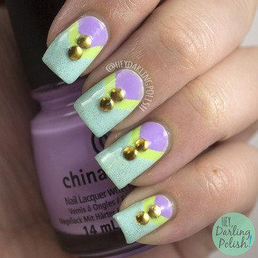 The never ending pile challenge neon pastel nail art 4 thumb370f