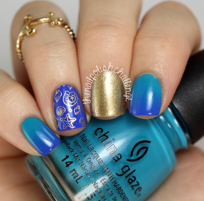 Nautical Nail Art nail art by Kelli Dobrin