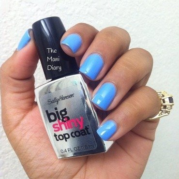 Sinful Colors Hip to be Square and Sally Hansen Big Shiny TopCoat Swatch by The Mani Diary