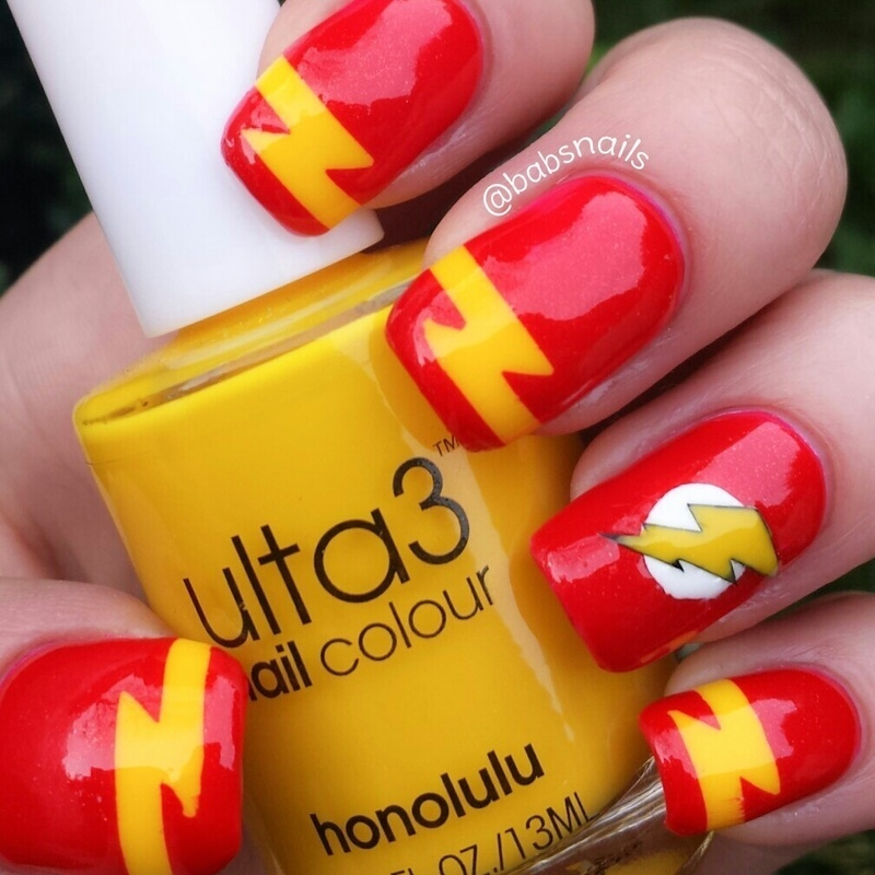 The Flash Nail Art By Brooke (babs)