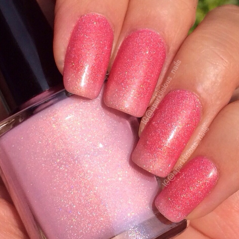 "fun lacquer Secret Admirer Swatch by Amanda ""Sparklicious Nails"""