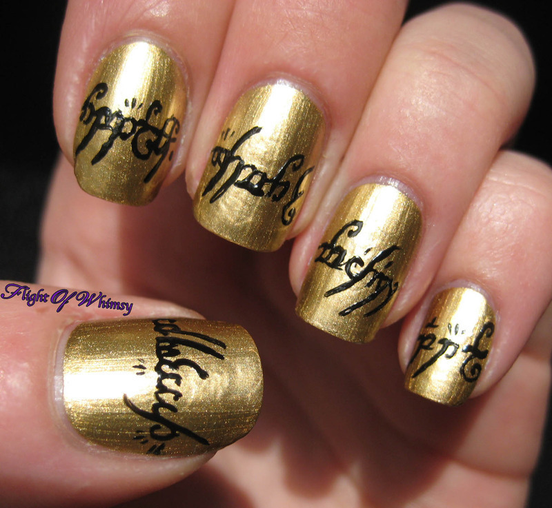 One Ring nail art by Flight of Whimsy