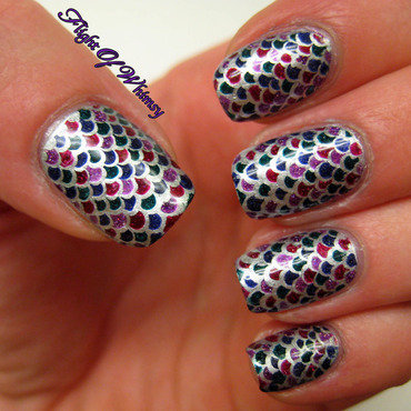 Dragon Scales nail art by Flight of Whimsy