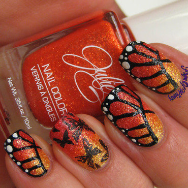 Textured Butterflies nail art by Flight of Whimsy