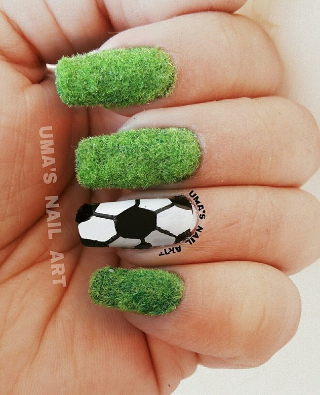 Fifa 2014 World Cup nail art by Uma mathur