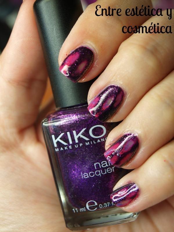 Acid Wash Nails - Purple nail art by MartaRuso