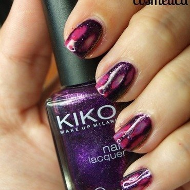 Acid Wash Nails - Purple nail art by MartaRuso