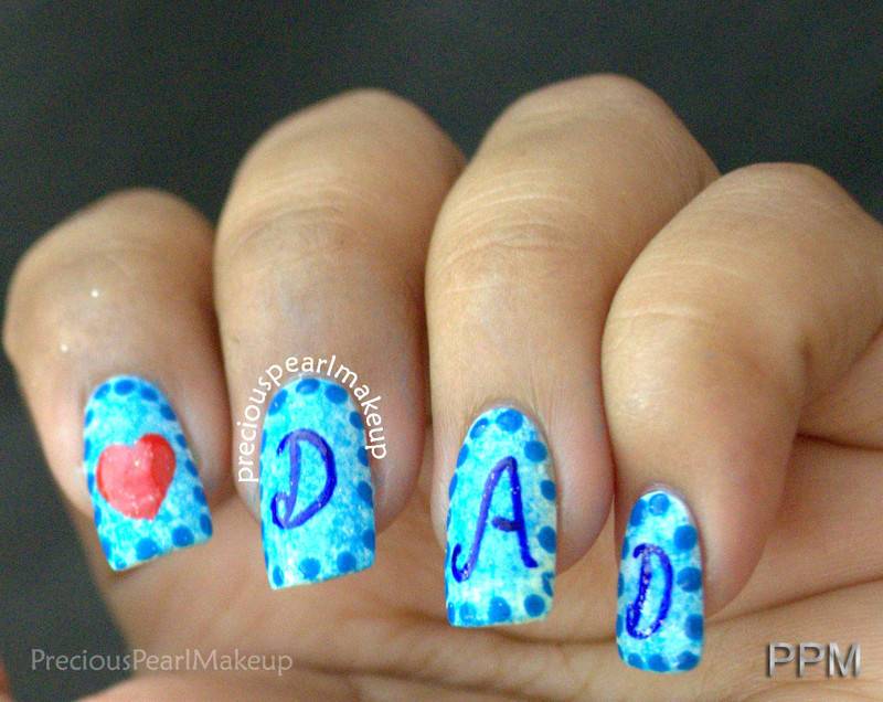 Father's Day Nails nail art by Pearl P.