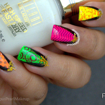 Party Hats nail art by Pearl P.